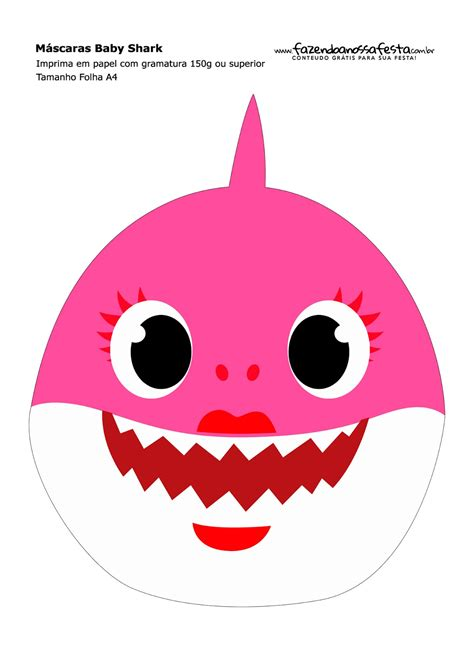 baby shark party  printable masks   baby