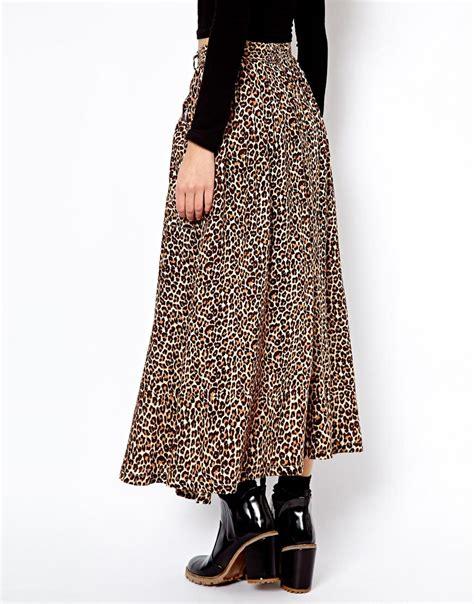 american apparel leopard print maxi skirt shopping