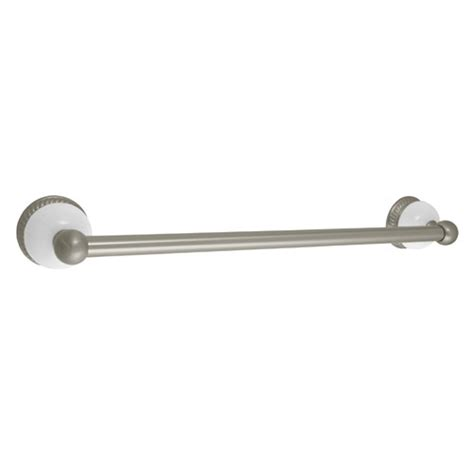 delta bathroom towel bars delta 69424 satin nickel porcelain bathroom towel bar ebay