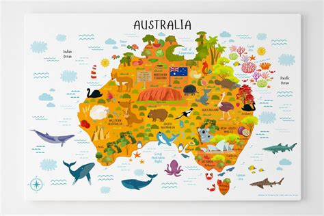 map of australia usa australia for map of australia for canvas