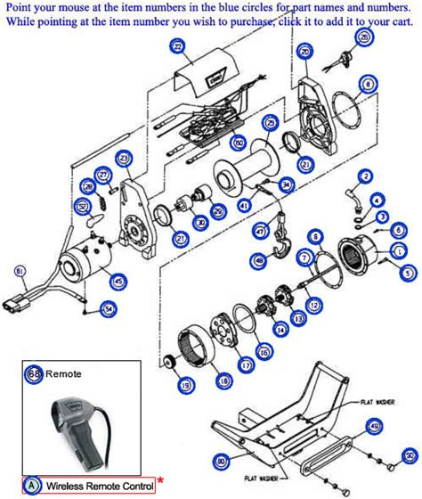 tulsa winch parts diagram warn authorized parts and service center for the xd9000i