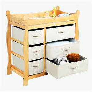 Changing Table Basket Badger Basket Sleigh Style Changing Table With Six Baskets By Oj Commerce 117 72 208 99