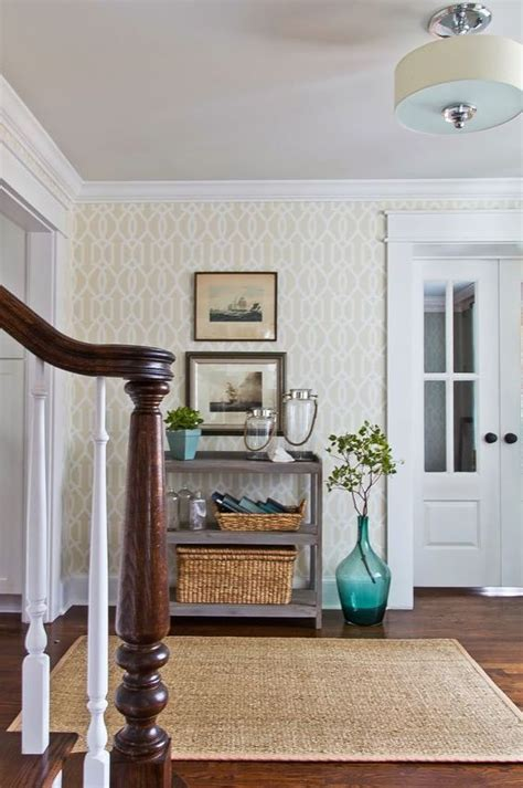 foyer wallpaper foyers small entryways and wallpapers on