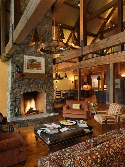 rustic living room lodge style cabin rooms to love distinctive cottage
