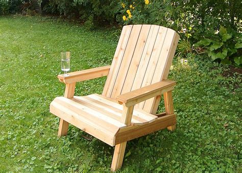 woodwork wood lawn chair  plans