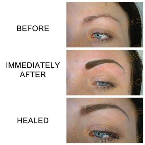 semi permanent eyebrow tattoo microblading aftercare for your care numbskin topical