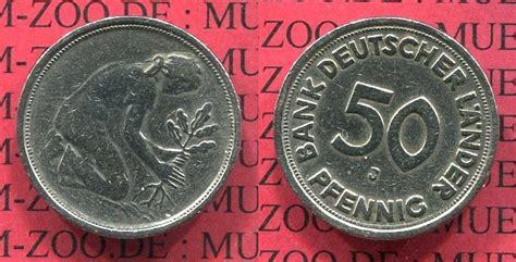 50 pfennig bank deutscher länder 1949 j 50 pfennig fehlpr 228 gung ohne jahr 1949 j brd 50 pfennig