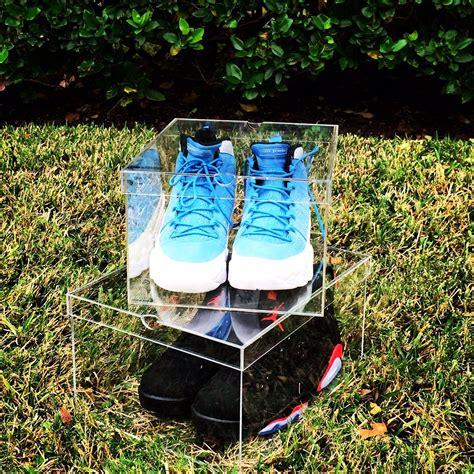 clear sneaker box clear shoe box plexiglass sneaker box
