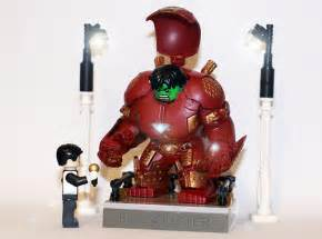 Lego iron man custom minifig suits and hulkbuster armor the brothers