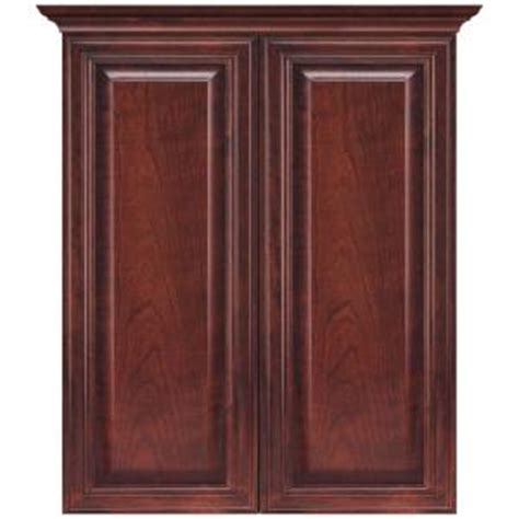 bathroom wall cabinet cherry masterbath raised panel 24 in w bath storage cabinet in
