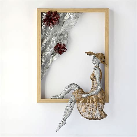 Wall Decor Sculpture by Metal Wall Nuntchi Wire Mesh Sculptures