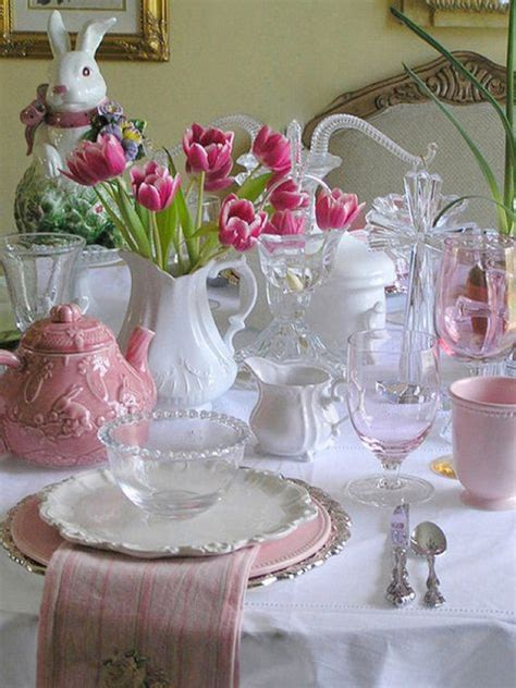 spring tablescape easter spring tablescapes