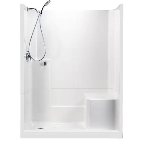 Left Drain Shower Kit by Ella 60 In X 33 In X 77 In 3 Low Threshold Shower