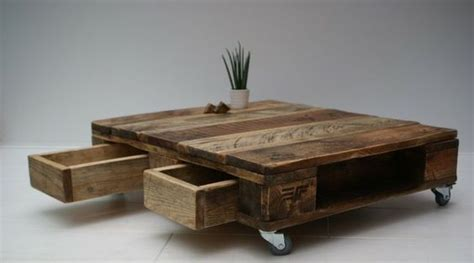 Attrayant Table Basse 3 Plateaux #4: Table-basse-palette-avec-tiroirs.jpg