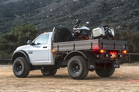 ram hd cummins aev prospector flat bed   The Fast Lane Truck