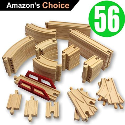 ikea train set compatible with brio toysopoly wooden train tracks 56 piece pack 100
