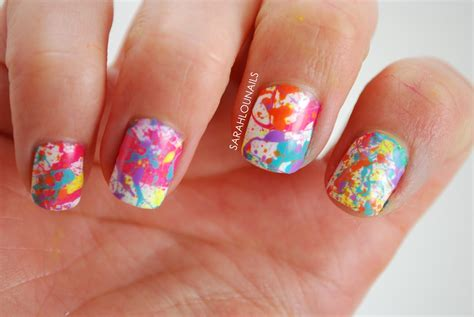 Nail Paint by Lou Nails Splatter Paint Nails