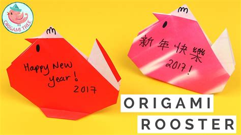 easy origami for new year new year crafts easy origami rooster chicken