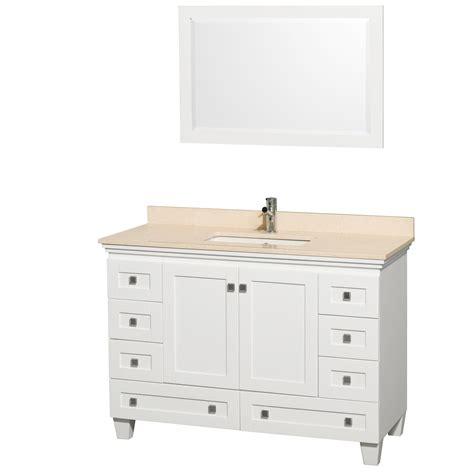 white bathroom vanity 48 acclaim 48 quot white bathroom vanity set