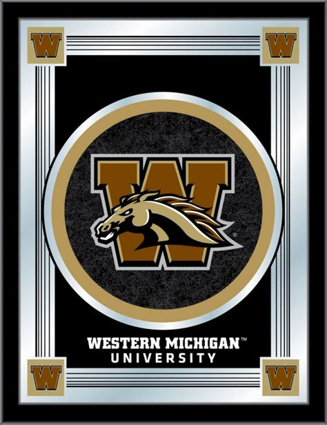 western michigan colors western michigan logo mirror