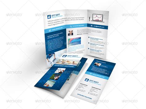 software brochure it and software trifold brochure by mike pantone