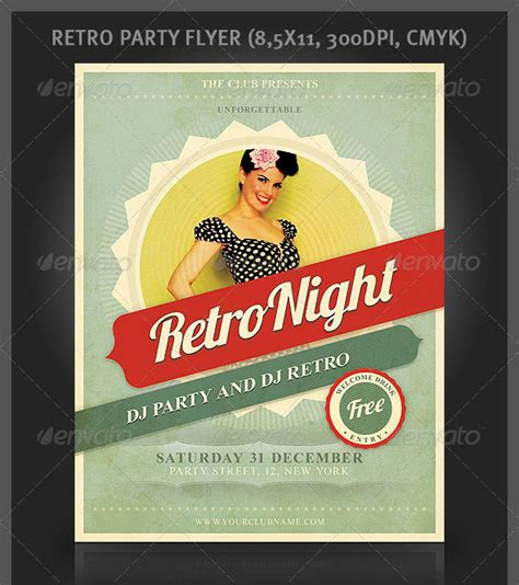 layout flyer psd 25 retro vintage psd flyer templates web graphic
