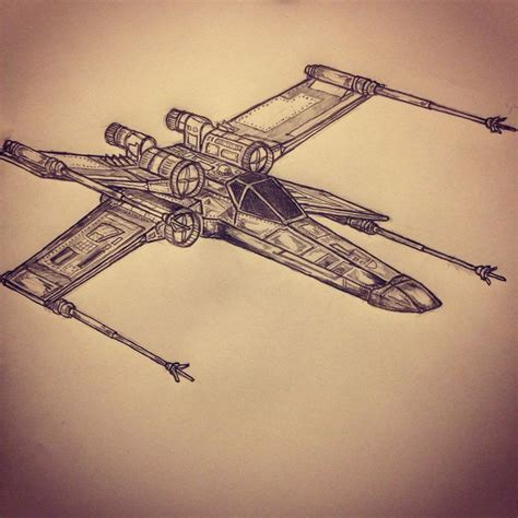 x wing tattoo x wing fighter wars sketch by ranz