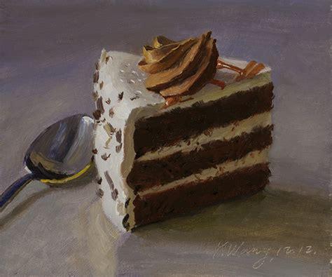 cake painting wang chocolate cake original painting a