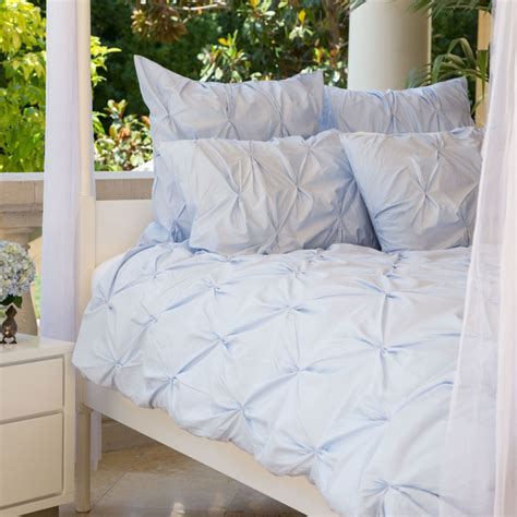 Light Blue And White Duvet Cover 400 Thread Count Pintuck Duvet Cover The Valencia Light