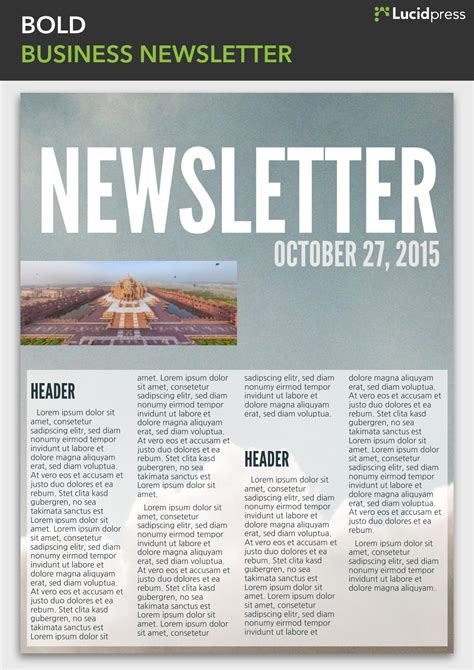 13 Best Newsletter Design Ideas To Inspire You Lucidpress Multi Page Newsletter Templates