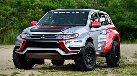 mitsubishi cars 2016 mitsubishi outlander phev baja race car review top