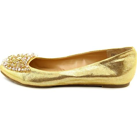 Candles And Home Decor thalia sodi sarita women fabric gold flats flats