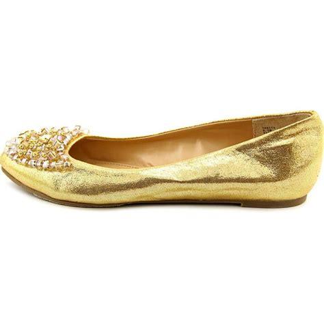 Thalia Sodi Sarita Women Fabric Gold Flats Flats