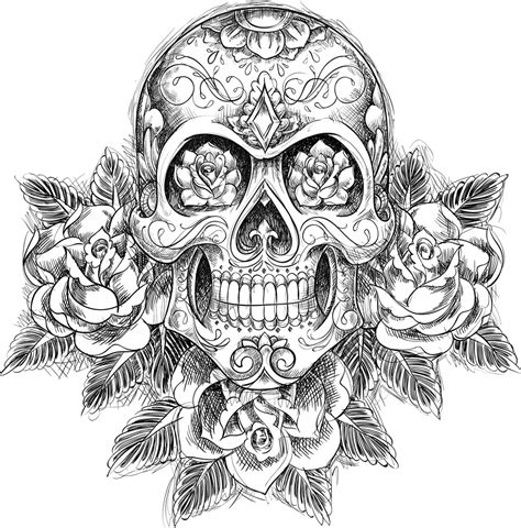 awesome flowery crown u0026 skull unique skull mandala coloring pages collection printable