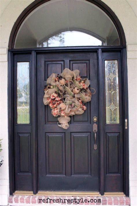 front door makeover  java gel stain brown front