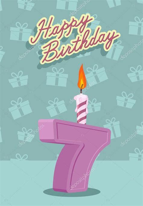 imagenes vectoriales feliz cumpleaños 7 a 241 os de feliz cumplea 241 os tarjeta archivo im 225 genes