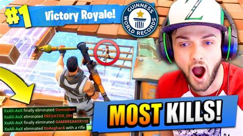 fortnite youtuber names ali a s most kills on fortnite battle royale new