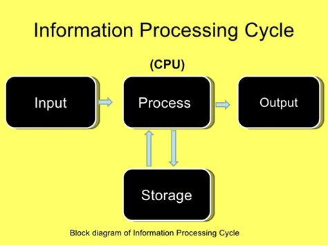 data processing cycle diagram system concept and hardware