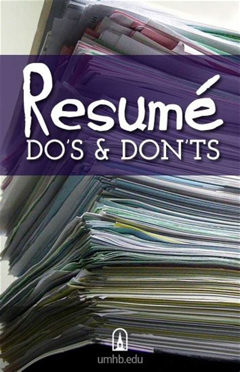Resume Tips Do S And Don Ts Pace Career Services Resume