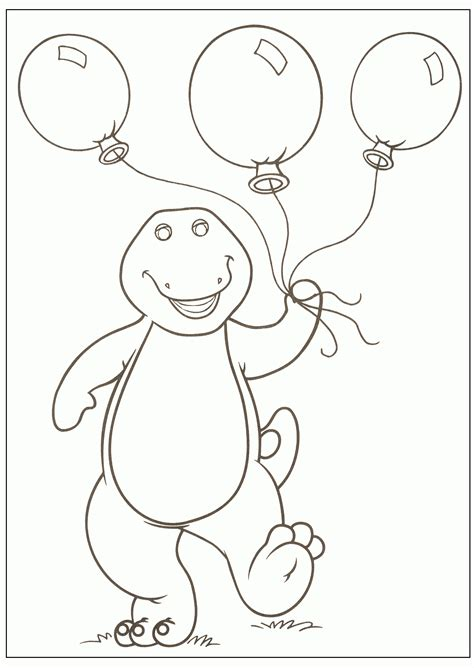 happy birthday barney coloring pages barney coloring pages to print whanco mylittlesweet