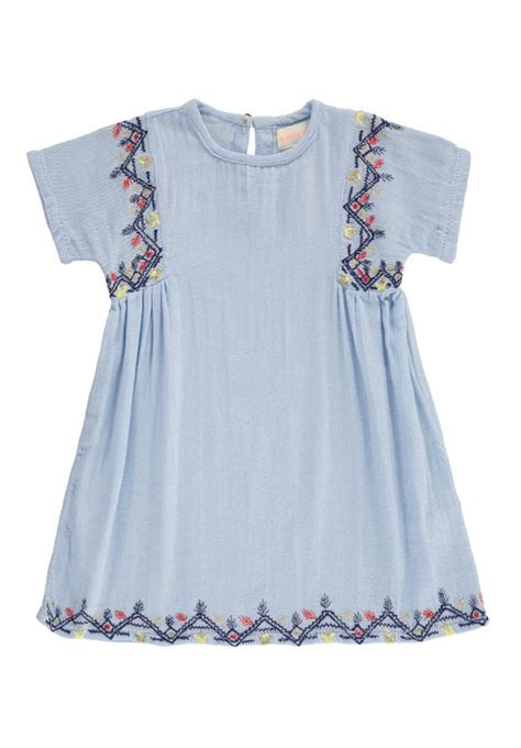 laos embroidered dress simple kids baby dress design