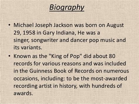 michael jackson biography powerpoint michael jackson biography abridged