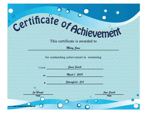 swimming award certificate template free printable reiki gift certificate studio design