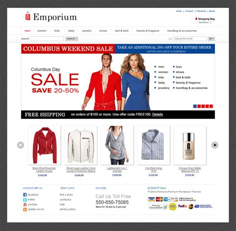 wordpress themes blog and ecommerce emporium ecommerce theme released templatic