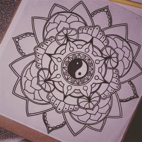 yin yang flower tattoo mandala images designs