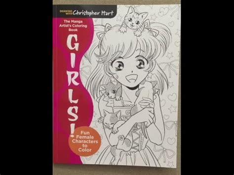 The Manga Artist S Coloring Book Girls Fun Female