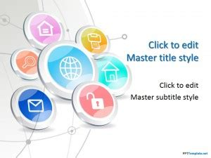Free Tech Buttons Ppt Template Microsoft Office Powerpoint Templates Technology