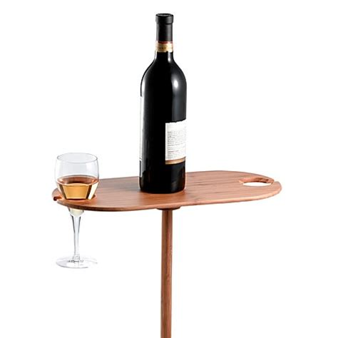 portable outdoor bamboo wine table bed bath beyond