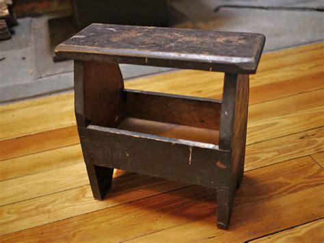 shoe stool bench small vintage antique primitive wooden wood shoe polish