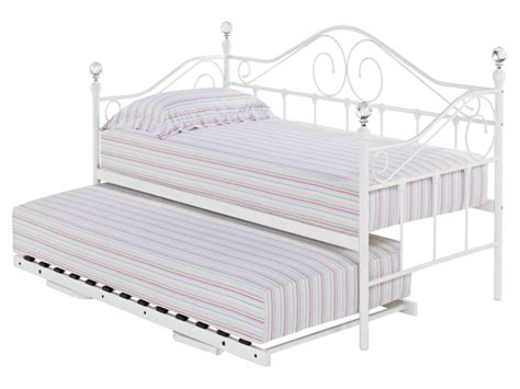 White Trundle Daybed Metal Daybed With Trundle Furniture Of America Braxton Traditional Style Metal Tristen Pewter